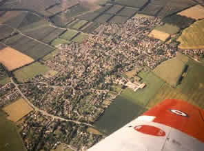 Aerial view of Harwell Village