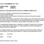 Parish Council Formal Vacancy Notice