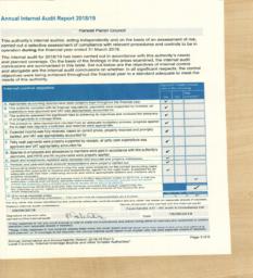 int audit agar page 2018-19