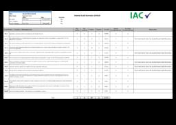 Internal audit summary