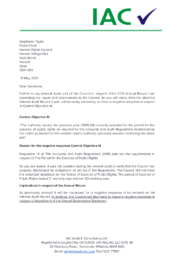int audit letter